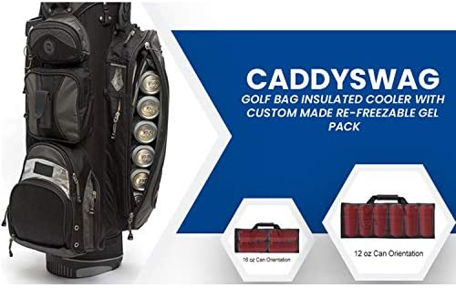 41iVVrzsd5L. AC  - Caddyswag Par 6 Pack Golf Bag Cooler With Flexible Reusable Freezer Gel Pack