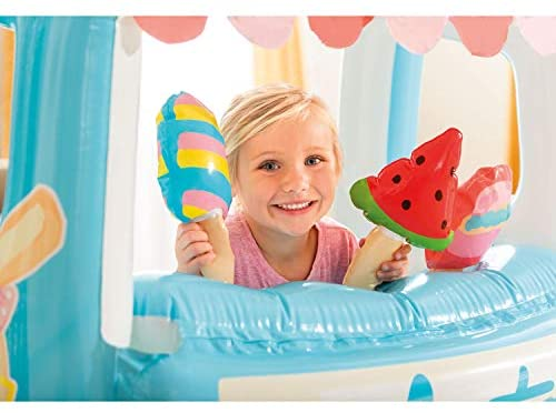 41jmgNYju2L. AC  - Intex Ice Cream Stand Inflatable Playhouse and Pool, for Ages 2-6, Multi, Model Number: 48672EP