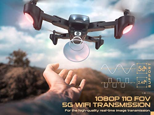 41kXwEt5kLL. AC  - SNAPTAIN SP500 Foldable GPS FPV Drone with 1080P HD Camera Live Video for Beginners, RC Quadcopter with GPS Return Home, Follow Me, Gesture Control, Circle Fly, Auto Hover & 5G WiFi Transmission