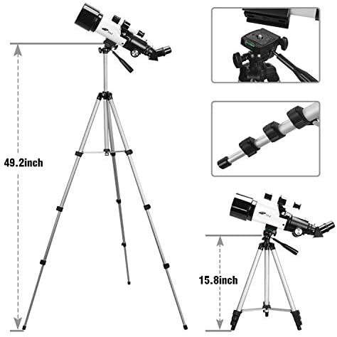 41oYBApRLYL. AC  - Telescopes for Adults, 70mm Aperture 400mm AZ Mount, Telescope for Kids Beginners, Fully Multi-Coated Optics, Astronomy Refractor Telescope Portable Telescope with Tripod, Phone Adapter, Backpack