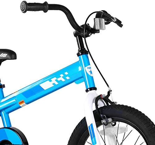 41prR82cn9L. AC  - JOYSTAR Whizz Kids Bike with Training Wheels for Ages 2-9 Years Old Boys and Girls, 12 14 16 18 Toddler Bike with Handbrake for Children