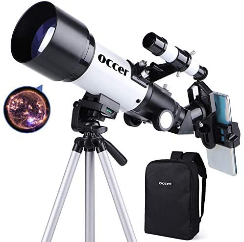 41zcDLcw4aL. AC  - occer Telescopes for Adults Kids Beginners - 70mm Aperture 400mm Telescope FMC Optic for View Moon Planet - Portable Refractor Telescope with Adjustable Tripod Finder Scope Phone Adapter