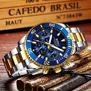 4980e8d3 0aed 4b4f b633 982cafe7c1d6.  CR0,0,1000,1000 PT0 SX300 V1    - Mens Watches Chronograph Stainless Steel Waterproof Date Analog Quartz Fashion Business Wrist Watches for Men