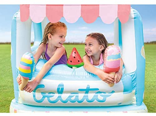 51 8hn6sh7L. AC  - Intex Ice Cream Stand Inflatable Playhouse and Pool, for Ages 2-6, Multi, Model Number: 48672EP