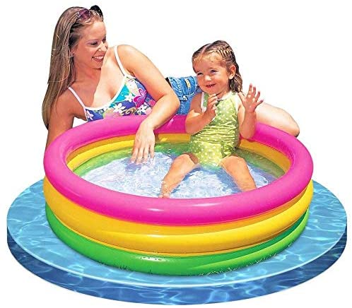 5139oGXyaiL. AC  - Intex 2.8ft x 10in Sunset Glow Inflatable Colorful Baby Swimming Pool (2 pack)