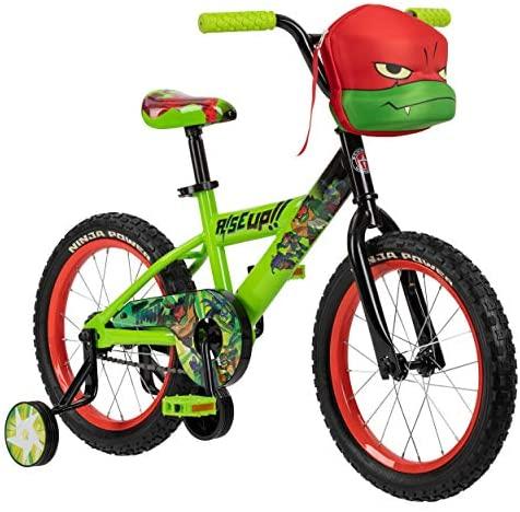51C8T0Yua+L. AC  - Teenage Mutant Ninja Turtles Boys Bicycle, 16-Inch Wheels, Green