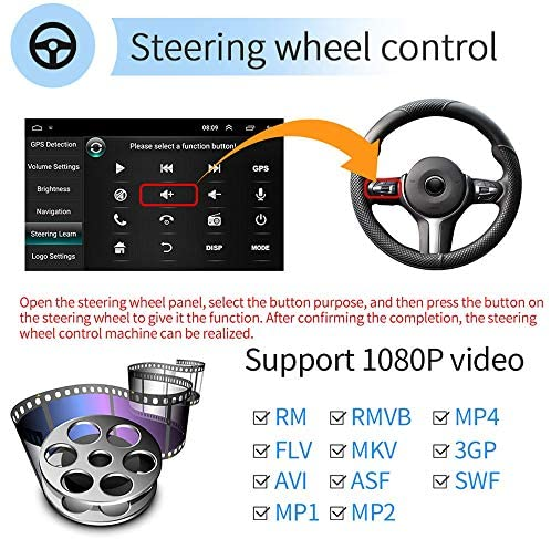 51CrrrGh2jL. AC  - [2G+32G] Upgrade Hikity Double Din Android Car Stereo 10.1 Inch Touch Screen Radio Bluetooth WiFi GPS FM Radio Support Android/iOS Phone Mirror Link with Dual USB Input & Backup Camera