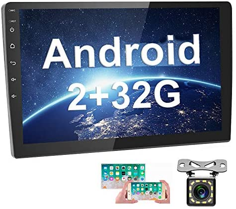 51GR+lsgEsL. AC  - [2G+32G] Upgrade Hikity Double Din Android Car Stereo 10.1 Inch Touch Screen Radio Bluetooth WiFi GPS FM Radio Support Android/iOS Phone Mirror Link with Dual USB Input & Backup Camera
