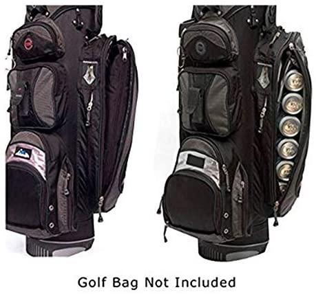 51INVXZz55L. AC  - Caddyswag Par 6 Pack Golf Bag Cooler With Flexible Reusable Freezer Gel Pack