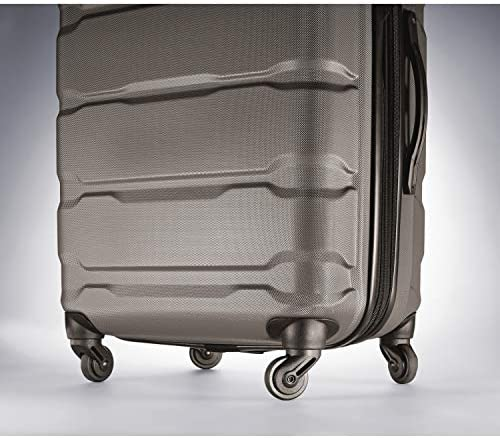 51L0BL+7C7L. AC  - Samsonite Omni PC Hardside Expandable Luggage with Spinner Wheels, Silver, 2-Piece Set (20/24)