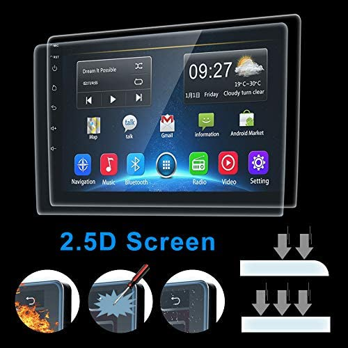 51MT1ckCjfL. AC  - [2G+32G] Upgrade Hikity Double Din Android Car Stereo 10.1 Inch Touch Screen Radio Bluetooth WiFi GPS FM Radio Support Android/iOS Phone Mirror Link with Dual USB Input & Backup Camera