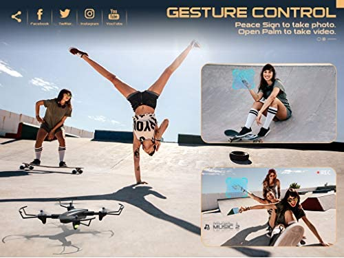 51O52D6mY7L. AC  - SNAPTAIN SP500 Foldable GPS FPV Drone with 1080P HD Camera Live Video for Beginners, RC Quadcopter with GPS Return Home, Follow Me, Gesture Control, Circle Fly, Auto Hover & 5G WiFi Transmission