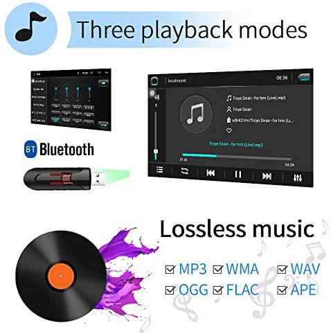 51PLnSLNe1L. AC  - [2G+32G] Upgrade Hikity Double Din Android Car Stereo 10.1 Inch Touch Screen Radio Bluetooth WiFi GPS FM Radio Support Android/iOS Phone Mirror Link with Dual USB Input & Backup Camera