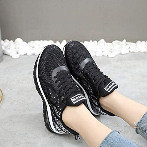 51RcyRg3SSL. AC  - GANNOU Women's Air Athletic Running Shoes Fashion Sport Gym Jogging Tennis Fitness Sneaker US5.5-10