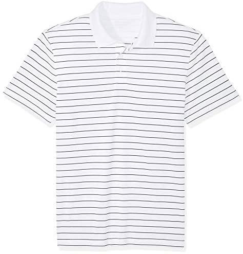 51T429M3uYL. AC  - Amazon Essentials Men's Slim-fit Quick-Dry Stripe Golf Polo Shirt