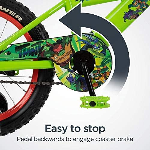 51URh8bOGhL. AC  - Teenage Mutant Ninja Turtles Boys Bicycle, 16-Inch Wheels, Green