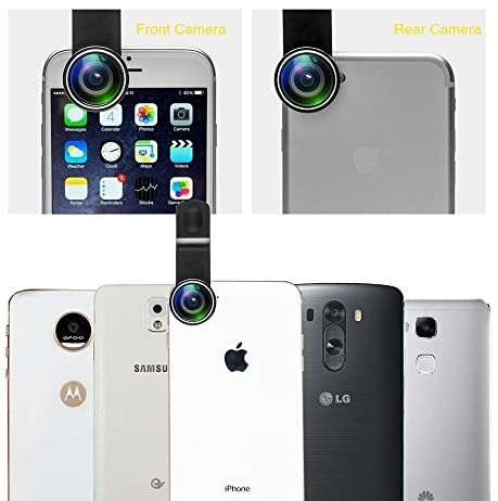 51VfDx2H3UL. AC  - Godefa Cell Phone Camera Lens with Tripod+ Shutter Remote,6 in 1 18x Telephoto Zoom Lens/Wide Angle/Macro/Fisheye/Kaleidoscope/CPL, Clip-On lense Compatible for iPhone X 8 7 6s Plus, Samsung and More