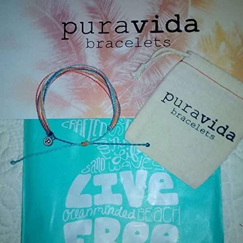 51ZGRrfG5eL. AC  - Pura Vida Jewelry Bracelets Bright Bracelet - 100% Waterproof and Handmade w/Coated Charm, Adjustable Band