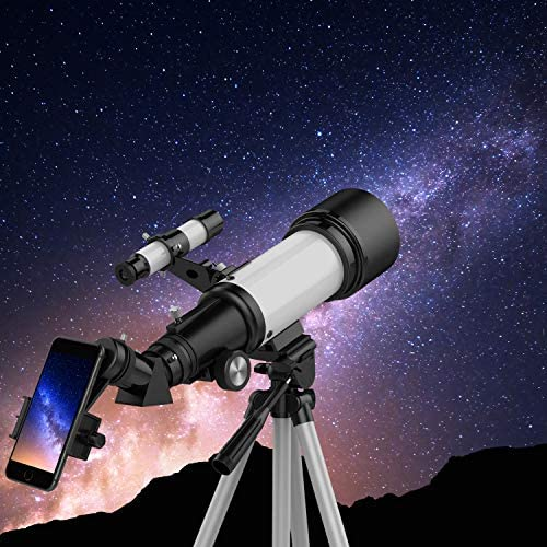 51bbQPGr9mL. AC  - Telescopes for Adults, 70mm Aperture 400mm AZ Mount, Telescope for Kids Beginners, Fully Multi-Coated Optics, Astronomy Refractor Telescope Portable Telescope with Tripod, Phone Adapter, Backpack