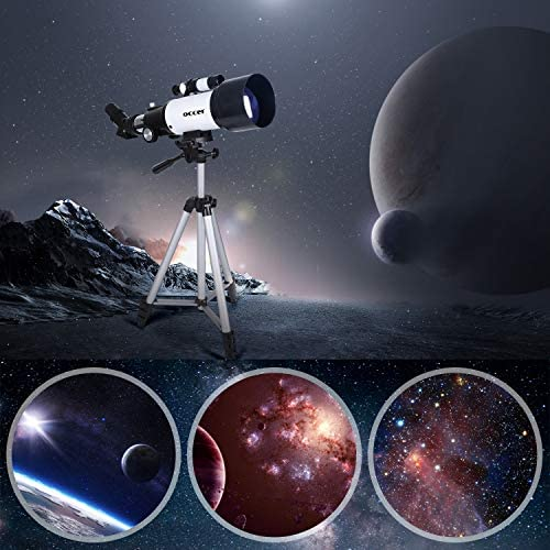 51cdprdwqqL. AC  - occer Telescopes for Adults Kids Beginners - 70mm Aperture 400mm Telescope FMC Optic for View Moon Planet - Portable Refractor Telescope with Adjustable Tripod Finder Scope Phone Adapter