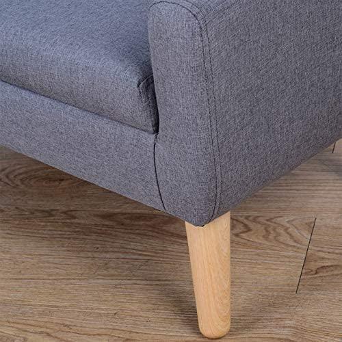 51e7EzsapZL. AC  - Kids Chair Sofa,Linen Fabric 2-Seater Upholstered Couch,Ideal Children Gift(30-Inch) (Gray)