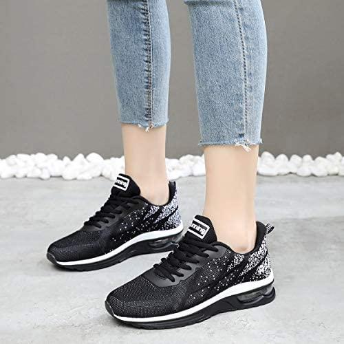 51sBD0mFizL. AC  - GANNOU Women's Air Athletic Running Shoes Fashion Sport Gym Jogging Tennis Fitness Sneaker US5.5-10