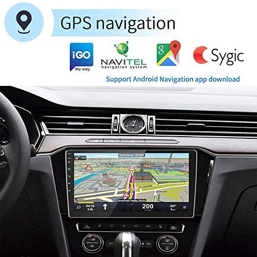 51seSWfzXOL. AC  - [2G+32G] Upgrade Hikity Double Din Android Car Stereo 10.1 Inch Touch Screen Radio Bluetooth WiFi GPS FM Radio Support Android/iOS Phone Mirror Link with Dual USB Input & Backup Camera
