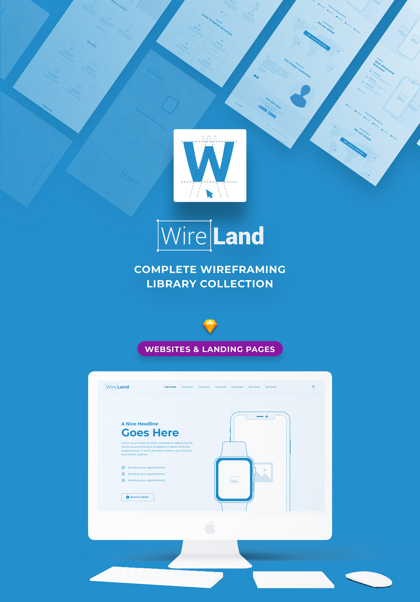 57926057728315.5f82276d383aa - Wireland - Wireframe Library for Web Design Projects - Sketch Template