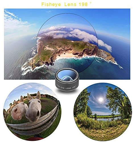 61Uc 1dbBKL. AC  - Godefa Cell Phone Camera Lens with Tripod+ Shutter Remote,6 in 1 18x Telephoto Zoom Lens/Wide Angle/Macro/Fisheye/Kaleidoscope/CPL, Clip-On lense Compatible for iPhone X 8 7 6s Plus, Samsung and More