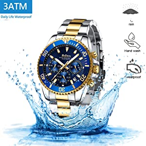 6d799201 9775 4395 9282 6a9d11846c44.  CR0,0,1100,1100 PT0 SX300 V1    - Mens Watches Chronograph Stainless Steel Waterproof Date Analog Quartz Fashion Business Wrist Watches for Men