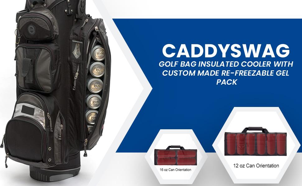 76041f8f 1995 40ef a907 d9fbbc44e8ff.  CR0,0,970,600 PT0 SX970 V1    - Caddyswag Par 6 Pack Golf Bag Cooler With Flexible Reusable Freezer Gel Pack