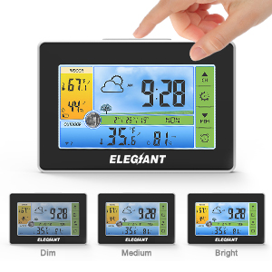 95773346 1b99 4c53 9f18 e3469e86d0a7.  CR0,0,300,300 PT0 SX300 V1    - ELEGIANT Wireless Weather Station, Indoor Outdoor Thermometer Hygrometer with Sensor, LCD Color Screen, Digital Temperature Humidity Monitor, Weather Forecast, Alarm Clock, Adjustable Brightness