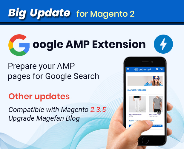 Google AMP - Fastest - Multipurpose Responsive Magento 2 and 1 Fashion Theme