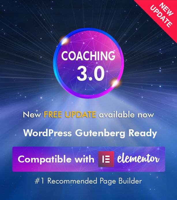 New update Coaching 2 - Colead | Coaching & Online Courses WordPress Theme