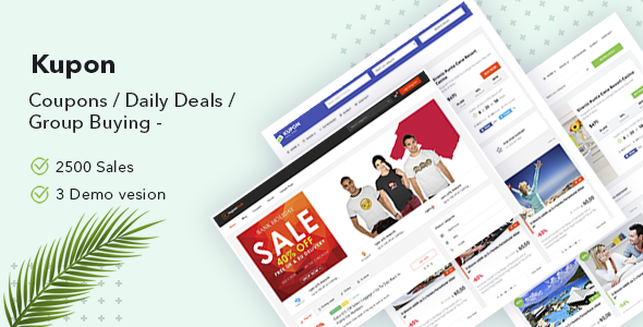 Preview.  large preview - KUPON - Coupons / Daily Deals / Group Buying - Marketplace WordPress Theme