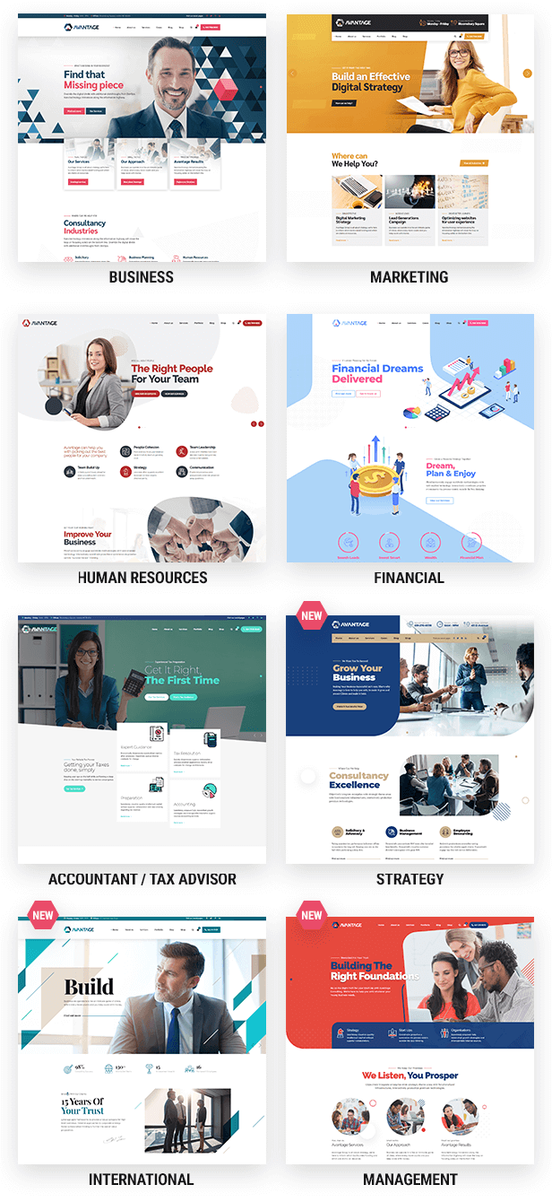Theme Info 003x - Avantage - Business Consulting