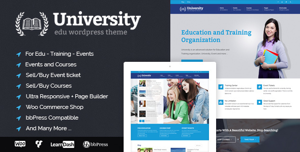 University Preview.  large preview - University - Education, Event and Course Theme