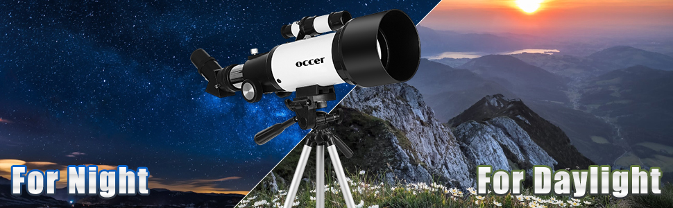 aab8062c 8283 4b51 84b4 21d99b9ba09e.  CR0,0,970,300 PT0 SX970 V1    - occer Telescopes for Adults Kids Beginners - 70mm Aperture 400mm Telescope FMC Optic for View Moon Planet - Portable Refractor Telescope with Adjustable Tripod Finder Scope Phone Adapter