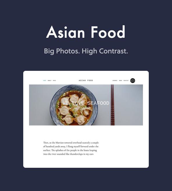 asian food - Dine - Elegant Restaurant WordPress Theme