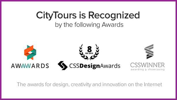 awards 2 - CityTours - Travel and Hotels Site Template
