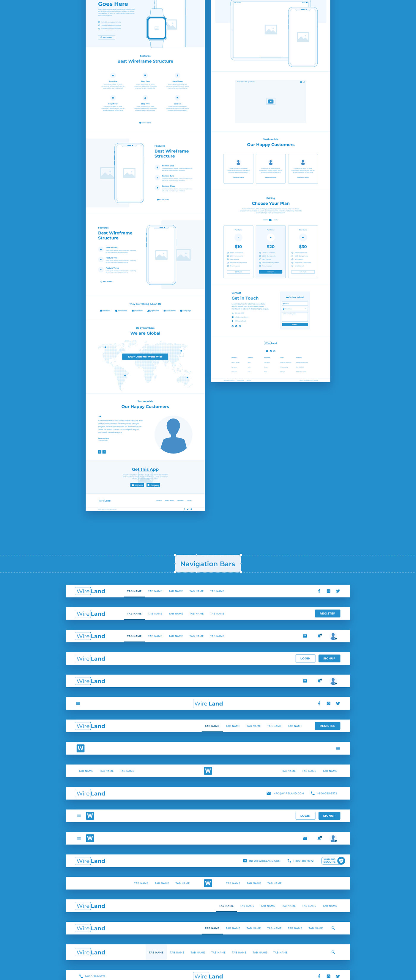 b543a057728315.5f82276d3d66c - Wireland - Wireframe Library for Web Design Projects - Sketch Template