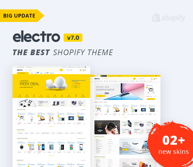 banner update - Electro 7.0 - Gadgets & Digital Responsive Shopify Theme