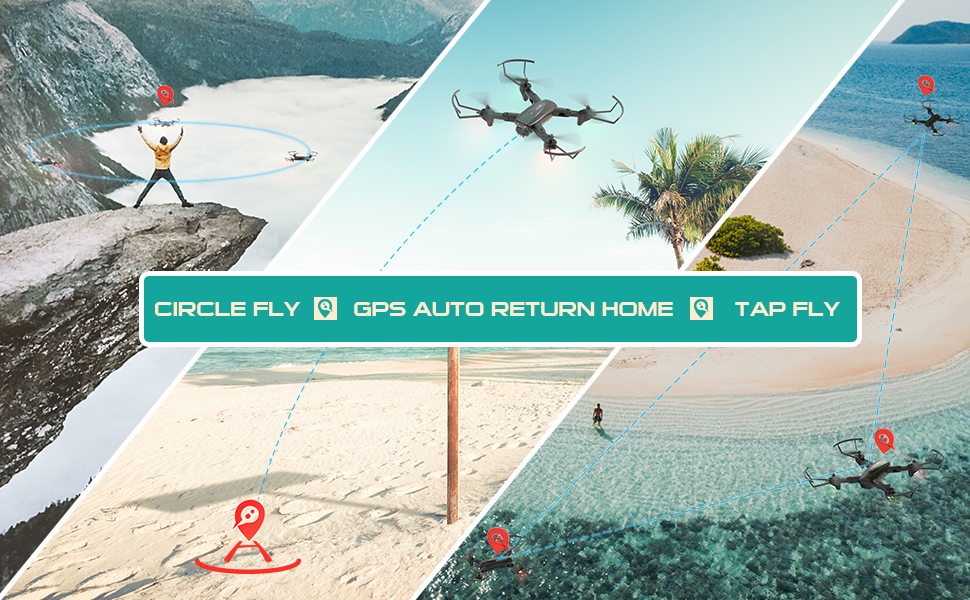 c2dbcedb 6aff 4847 be92 4859b8a6bf2d.  CR0,0,970,600 PT0 SX970 V1    - SNAPTAIN SP500 Foldable GPS FPV Drone with 1080P HD Camera Live Video for Beginners, RC Quadcopter with GPS Return Home, Follow Me, Gesture Control, Circle Fly, Auto Hover & 5G WiFi Transmission