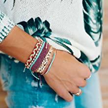 c3842354 1368 495f 9339 1ede7f174022. CR0,0,1378,1378 PT0 SX220   - Pura Vida Jewelry Bracelets Bright Bracelet - 100% Waterproof and Handmade w/Coated Charm, Adjustable Band