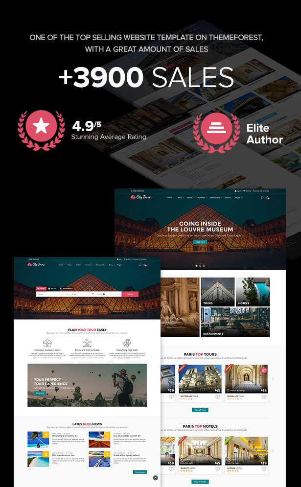 citytours intro - CityTours - Travel and Hotels Site Template