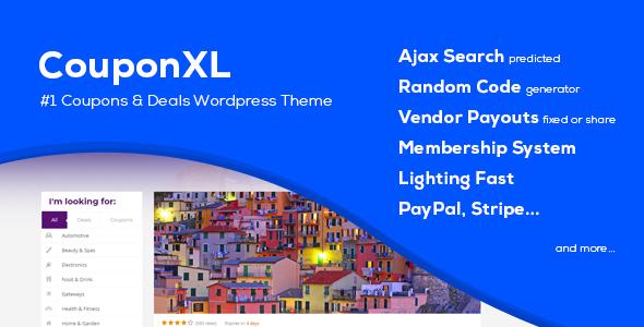 couponXL.  large preview - CouponXL - Coupons, Deals & Discounts WP Theme
