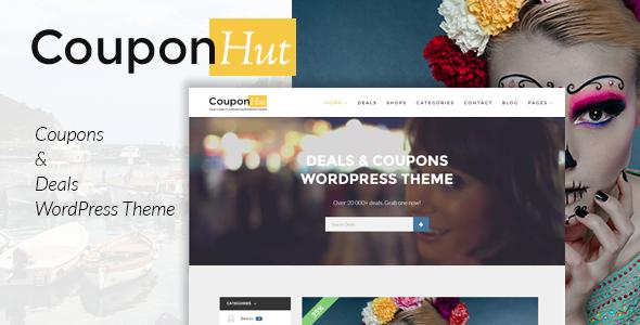 couponhut preview.  large preview - CouponHut - Coupons & Deals WordPress Theme
