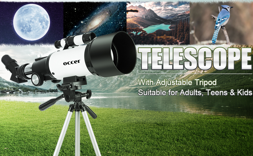 d953be2b e37e 4754 935e 5889dcc0f1d3.  CR0,0,970,600 PT0 SX970 V1    - occer Telescopes for Adults Kids Beginners - 70mm Aperture 400mm Telescope FMC Optic for View Moon Planet - Portable Refractor Telescope with Adjustable Tripod Finder Scope Phone Adapter