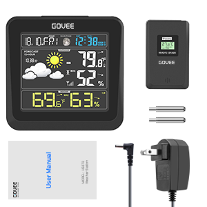 dd029e91 dc78 4f63 972c c8c89a5e95b7.  CR0,0,300,300 PT0 SX300 V1    - Govee Wireless Weather Station, Color LCD Display, Weather Forecast with Outdoor Sensor, Digital Temperature and Humidity Gauge with Alarm Clock, Moon Phase, Backlight, Snooze Mode