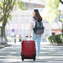 dd2b5ee8 61ee 48b2 9e62 7aa998c5b9b9. CR0,0,220,220 PT0 SX220   - SHOWKOO Luggage Sets Expandable PC+ABS Durable Suitcase Double Wheels TSA Lock Red Wine